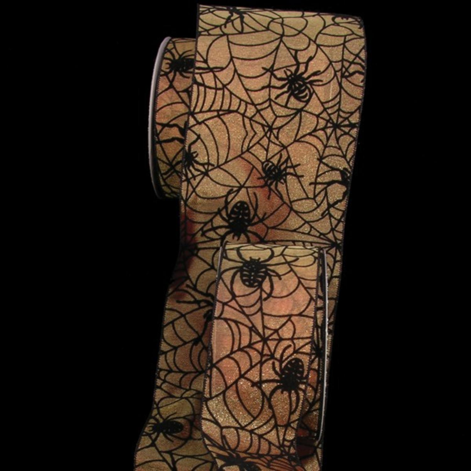"Orange and Black Wired Sheer ""Super Spider"" 2.5"" x 20 Yards"