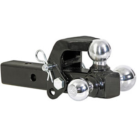 TRI-BALL HITCH WITH PINTEL HOOK - image 1 of 2