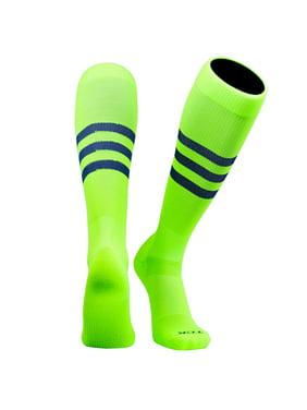 28372e59219 Product Image TCK Elite Baseball Football Knee High Striped Socks (B) NEON  Green