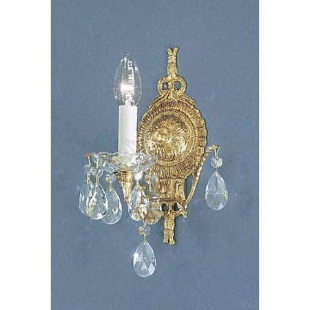 Classic Lighting Madrid 1-Light Candle Wall Light