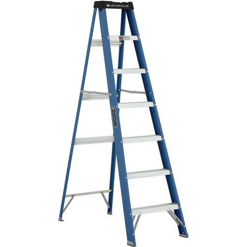 Louisville Ladder W-3215-07 7 ft. Fiberglass Ladder, Type II, 225 Lbs Load Capacity