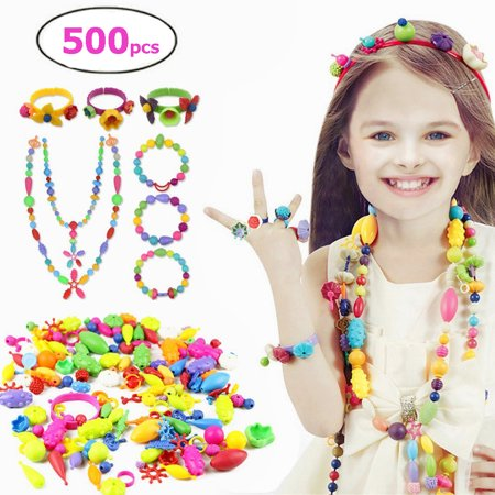 KIDdesigns Pop Beads Jewelry Making Kit for 4, 5, 6, 7 Year Old
