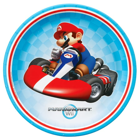 Super Mario Brothers Mario Kart Wii Party Supplies 48 Pack Lunch Plates (Super Mario Brothers Decorations)