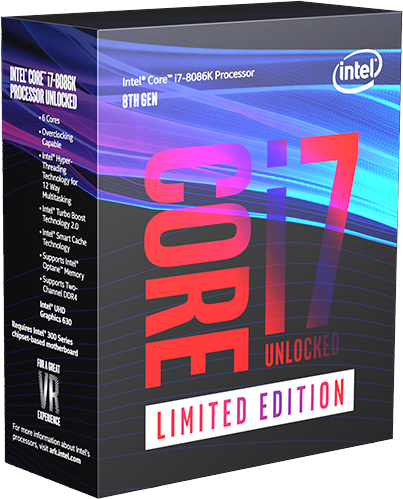 Intel 8th Generation Limited Edition Intel Core i7 Processors i7-8086K BX80684I78086K by Intel