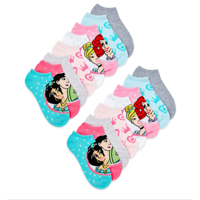 Disney Princess Girls Socks, 12 + 4 Pack No Show Socks Sizes S - L