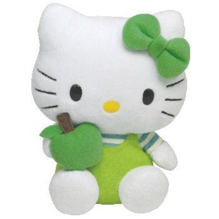 TY Beanie Baby - HELLO KITTY ( GREEN APPLE ) (5.5 inch)