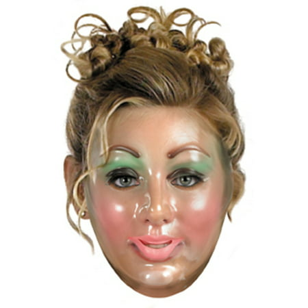 Plastic Young Female Transparent Mask Halloween Accessory for $<!---->