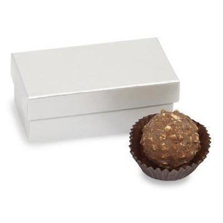 1 Unit Double Truffle Boxes Pearl 3-1/4x1-5/8x1-1/4