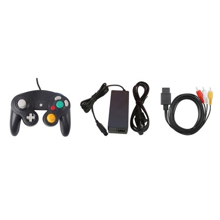 Gamecube Parts Bundle - Controller, Power Adapter, and AV Cable - by Mars