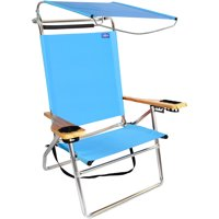 Product Image Deluxe 4 Position Aluminum High Beach Chair With Canopy Shade