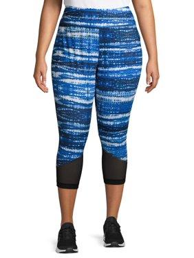 Athletic Works Women's Plus Size Active Printed Capri Leggings
