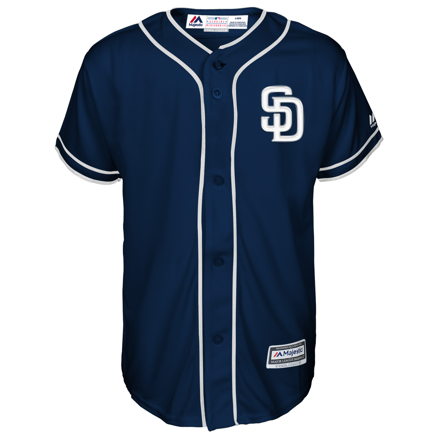 check out 8307d 845d8 Eric Hosmer San Diego Padres Majestic Youth Official Cool Base Player  Jersey - Navy
