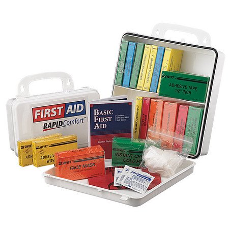 Rapid Comfort 8L542 First Aid Kit  Unitized  White  62Pcs  3 Ppl