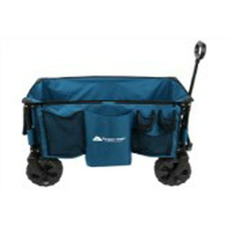 c8beb0350d38 Ozark Trail Quad-Folding Wagon with Telescoping Handle, Blue – BrickSeek