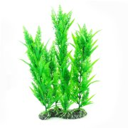 "15.3"" Height Green Plastic Artificial Plant Decor for Aquarium Fish Tank"