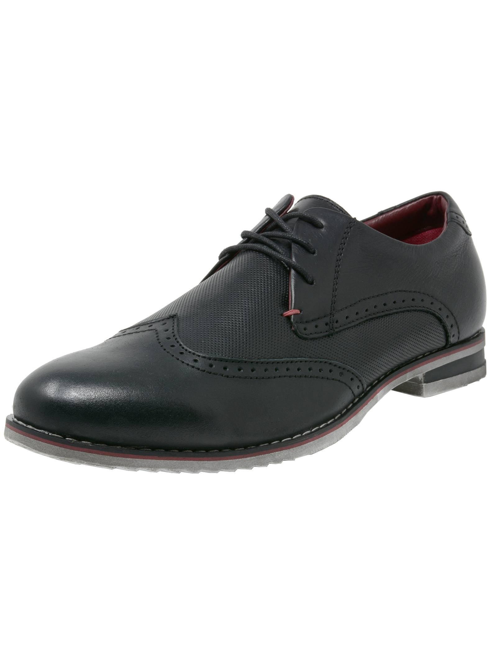 double diamond by alpine swiss mens oxfords genuine leather wingtip dress shoes