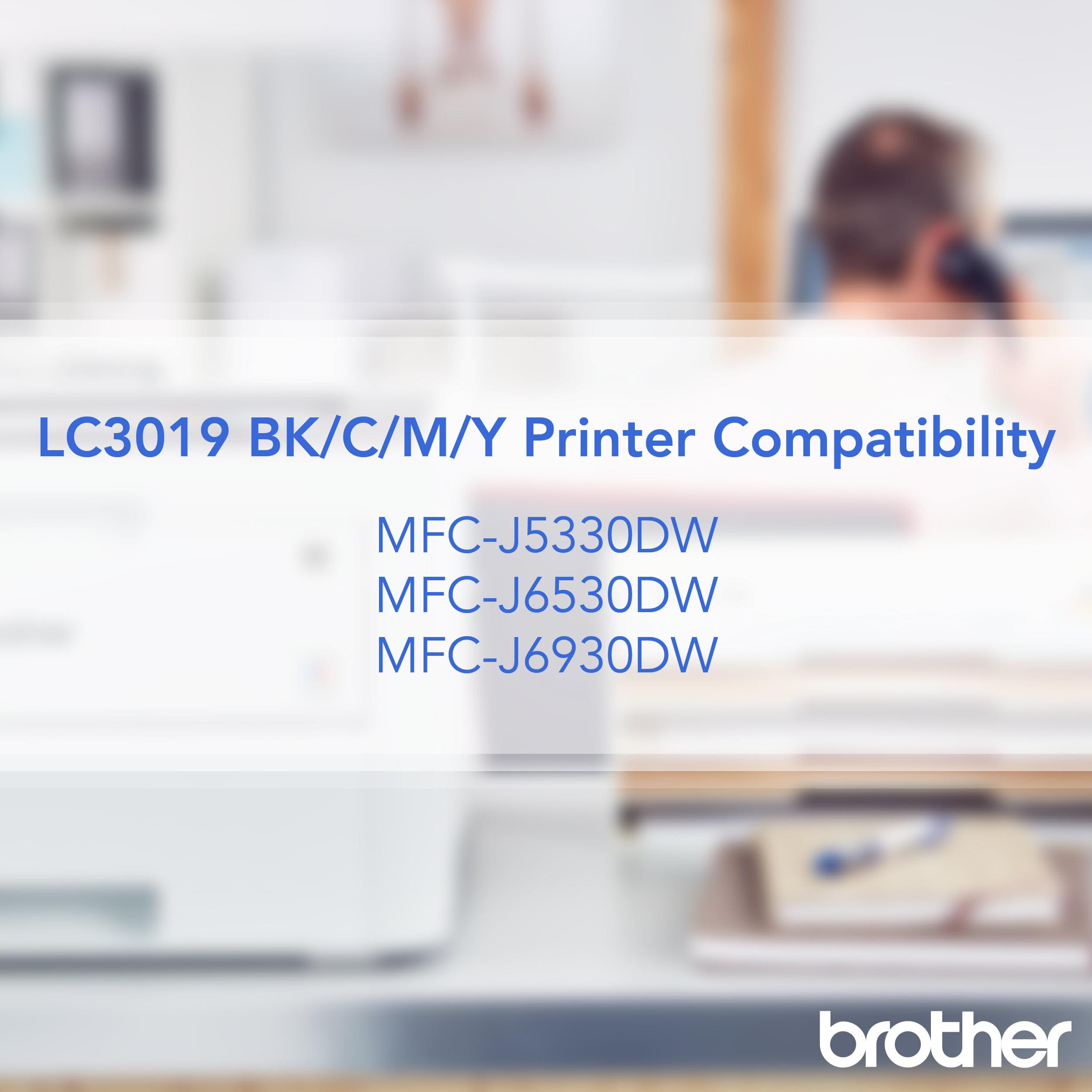Brother Printer LC30193PK Super High Yield XXL 3 Pack Ink Cartridges Cyan//Magenta//Yellow Ink 1 Ea