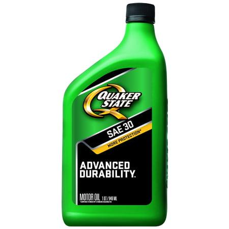 (2 Pack) Quaker State Conventional Advanced Durability SAE 30 Motor Oil 1qt
