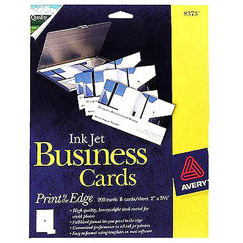 Avery 8373 Photo Quality Inkjet Business Card