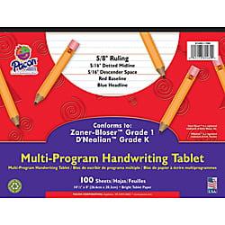 Kindergarten Halloween Paper Crafts (Pacon® Zaner Bloser 1st Grade/D'Nealian Kindergarten Handwriting Paper, 10 1/2