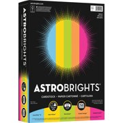 Astrobrights Colored Cardstock, 8.5 x 11, 65 lb / 176 gsm, Bright 5-Color Assortment, 250 Sheets