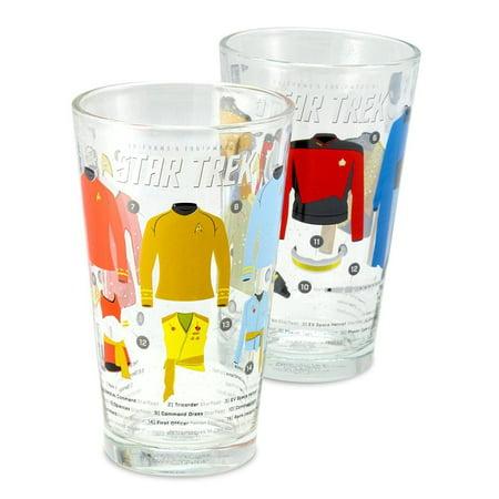 Bulk Pint Glasses (Star Trek Uniforms 16oz Pint Glasses, Set of)