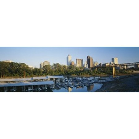 City At Dusk Memphis Tennessee USA Poster Print