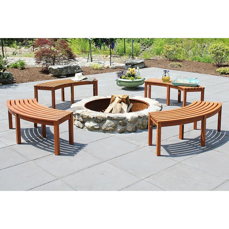 Achla Curved Backless Bench   Single Bench
