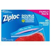 Ziploc Freezer Bags, Quart, 60 ct