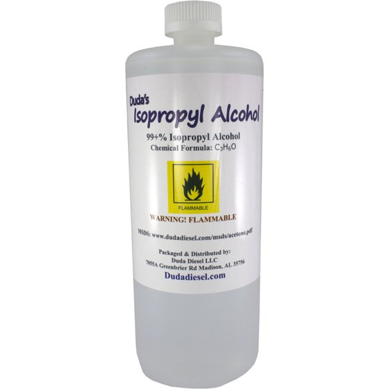 950ml Bottle Of 99 Pure Isopropyl Alcohol Industrial Grade IPA Concentrated Rubbing