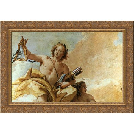 Apollo And Diana 24X18 Gold Ornate Wood Framed Canvas Art By Tiepolo  Giovanni Battista