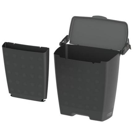 rubbermaid trash bin organizer car interior organization convenient sturdy trash can. Black Bedroom Furniture Sets. Home Design Ideas