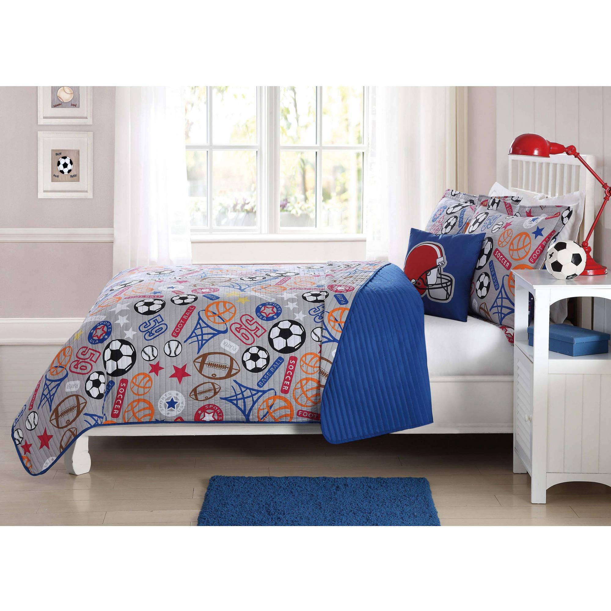 Kids Quilt Set with BONUS Decorative Pillow