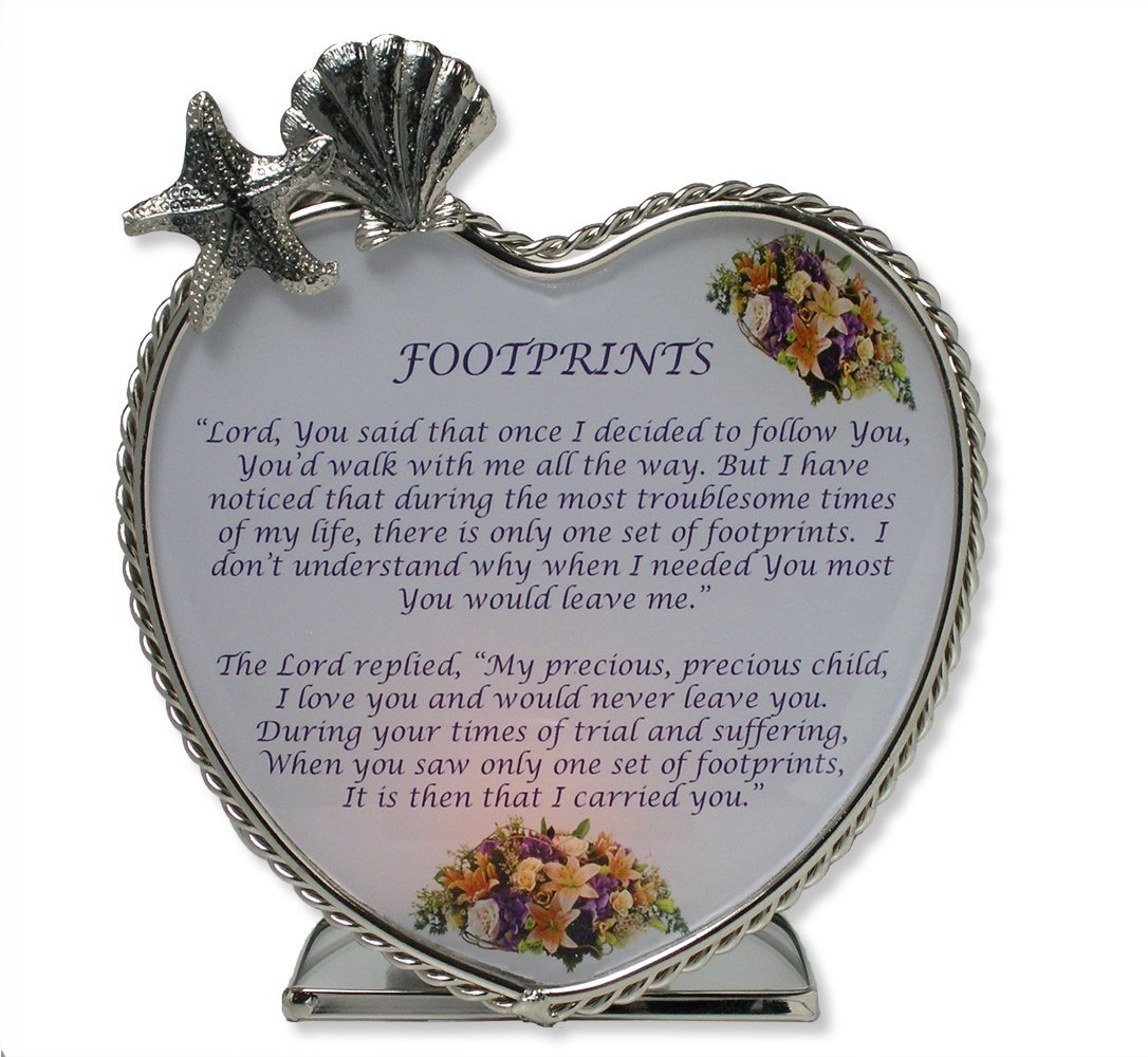 Footprints Message Candle Holder Inspirational, Footprints ...