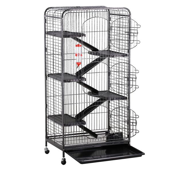 """Yaheetech 52"""" 6 Level Indoor Ferret and Small Animal Cage, Black"""