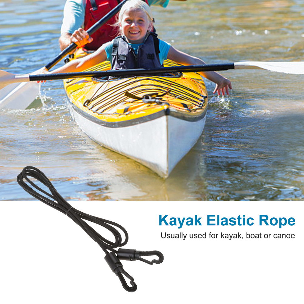 Yosoo 1.6m Heavy Duty Elastic Cord Rope with Snap Hooks Accessory for Kayak Boat Canoe,... by