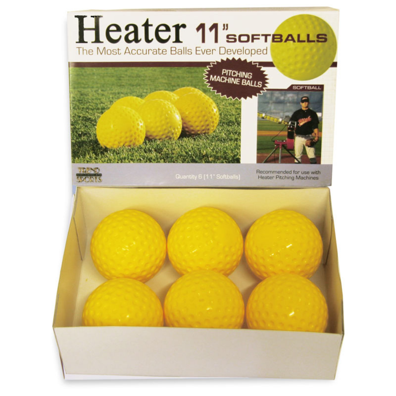 Heater Sports 11 in. Pitching Machine Softballs 1 Dozen by World Sports Products Inc