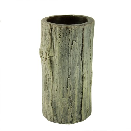 "6"" Rustic Faux Tree Bark Battery Operated Flameless LED Wax Christmas Pillar Candle"