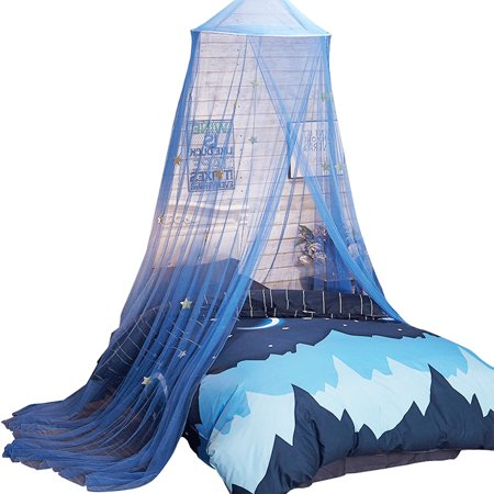 Canopy for Bed, Kids Boys Girls Beach Bed Canopy Mosquito Net Curtains With Stars Decorative Baby Crib Curtain for Girls Toddlers and Teens -