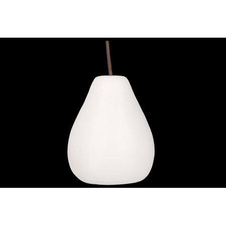 - Urban Trends Collection: Porcelain Pear Figurine Matte Finish White