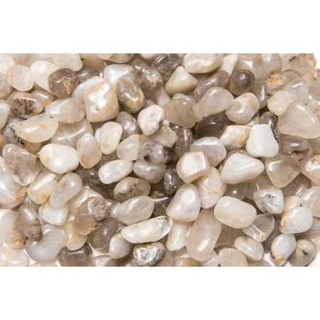Fantasia Crystal Vault: 1 lb High Grade Rutile Quartz Tumbled Stones - Medium - 1