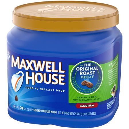 (3 Pack) Maxwell House Decaf Original Roast Ground Coffee, 29.3 oz - Maxwell House Original Ground