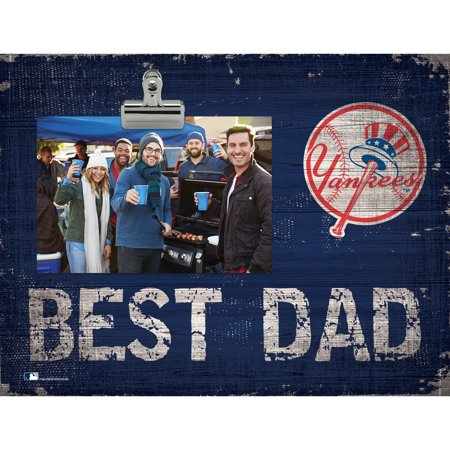 New York Yankees 8'' x 10.5'' Best Dad Clip Frame - No (Best Of Daddy Yankee)