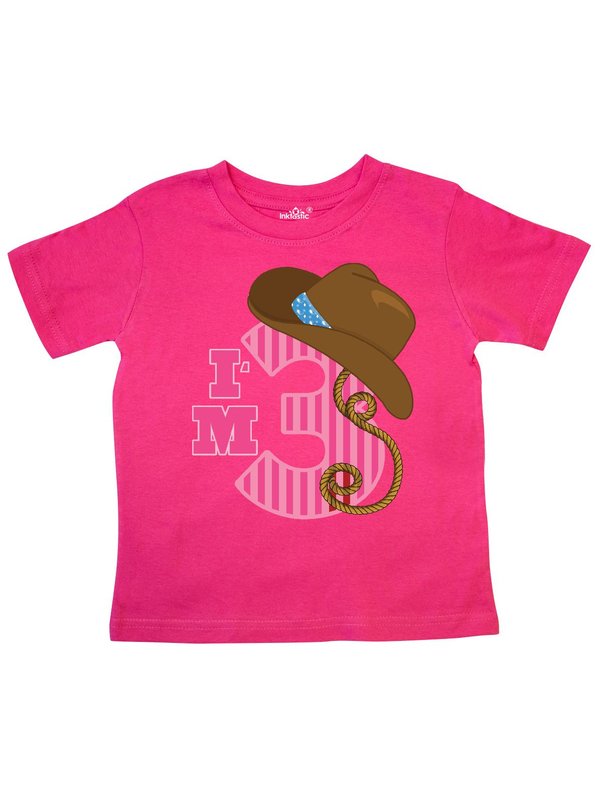 inktastic Cowgirl Birthday 3 Years Old with Cowgirl Boots Toddler T-Shirt