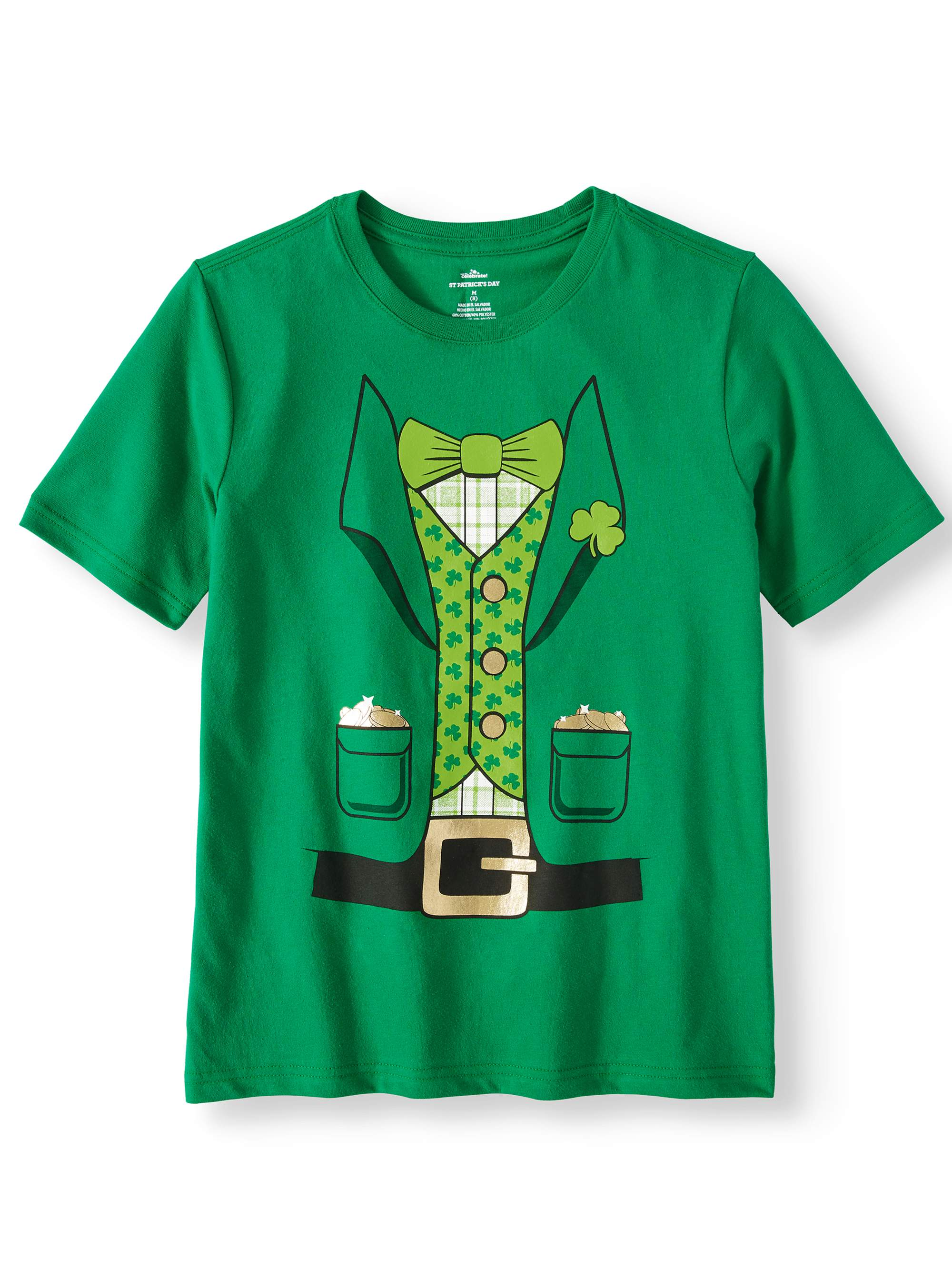 Boys st. patrick's day graphic seasonal short sleeve tee (little boy and big boy)