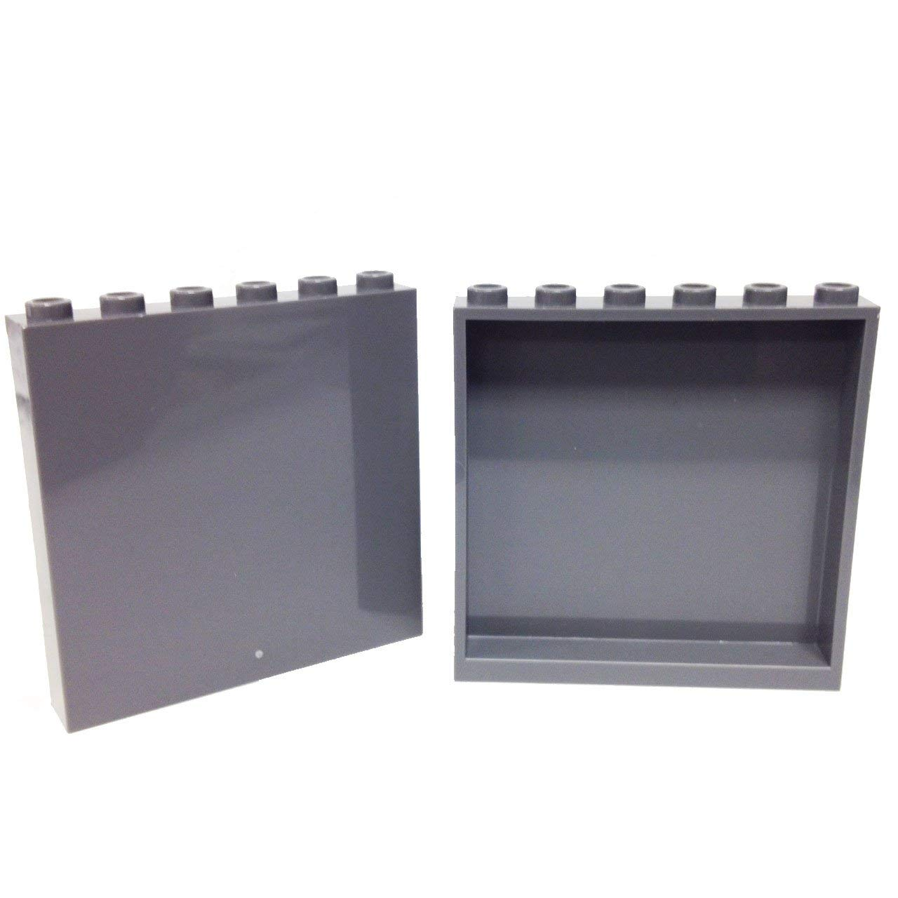LEGO LOT OF 20 NEW BLACK PANELS 2 X 6 X 6 WITH WINDOW SLOT PIECES