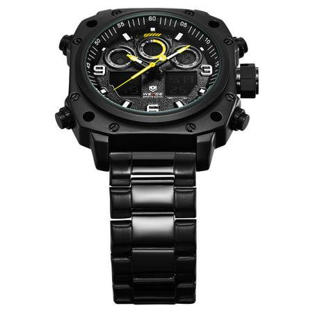 WEIDE WH7303 Quartz Digital Electronic Watch Dual Time Alarm Calendar  Stopwatch 3ATM Waterproof Timer Business Men Fashion Casual Outdoor Sports  Male Wristwatch | Walmart Canada