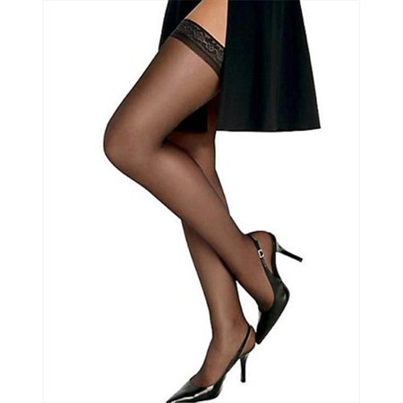 720 Womens Silk Reflections Silky Sheer Thigh High Size - CD, Soft Taupe