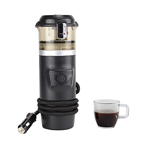 Click here to buy 12V Espresso Machine Car Espresso Coffee Machine, Make Espresso in Car 12V Car Coffee Maker with 2 cups.