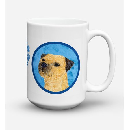 Border Terrier Dishwasher Safe Microwavable Ceramic Coffee Mug 15 ounce